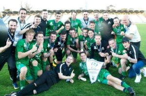 The 2015 NPL Victoria Championship-winning team lead by Bentleigh Greens Head Coach John Anastasiadis.