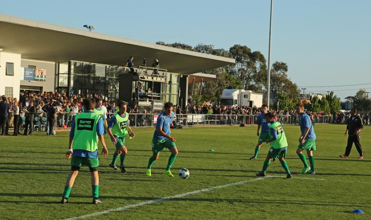 Bentleigh Greens' state-of-the-art facilities at Kingston Heath Soccer Complex, following the 2010 $3 million redevelopment.