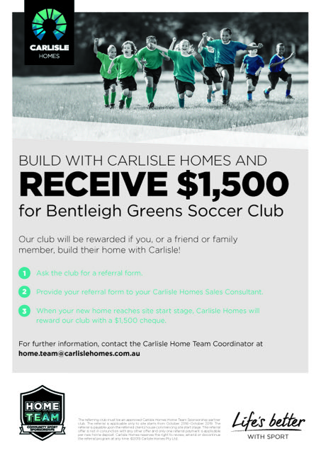 CH17 0099 HOMETEAM A4FLYER FORM BENTLEIGH GREENS FC FA1