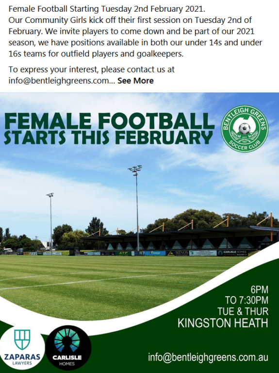 Female Football Resumes for Season 2021