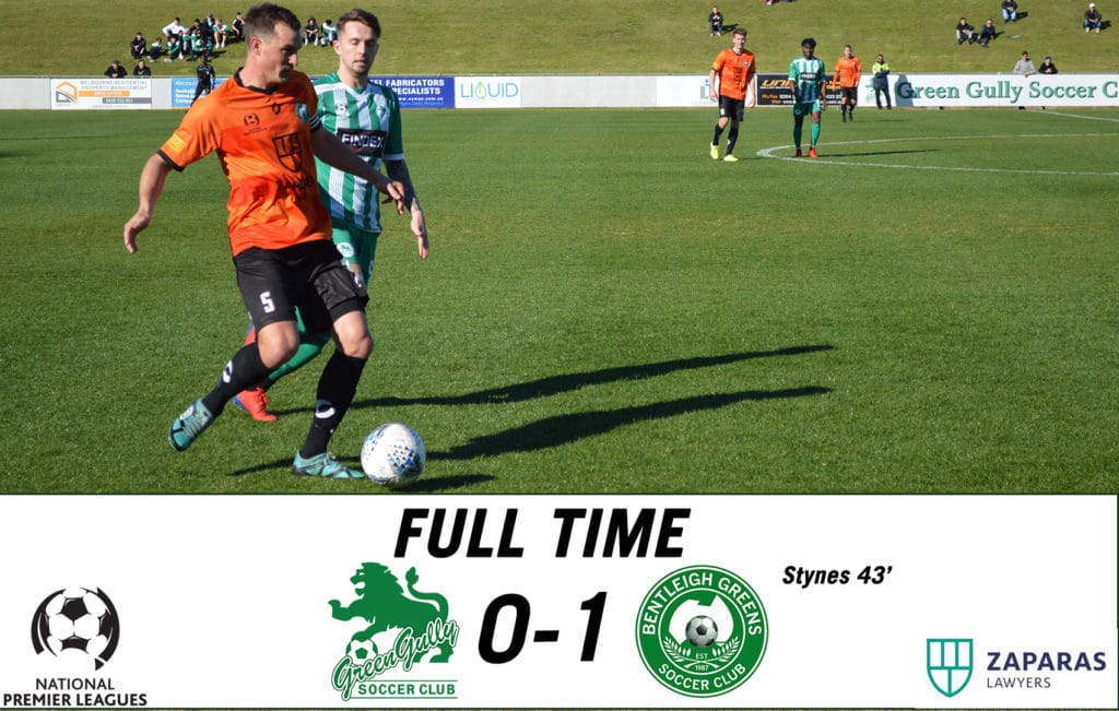 Match Report – Green Gully vs Bentleigh Greens