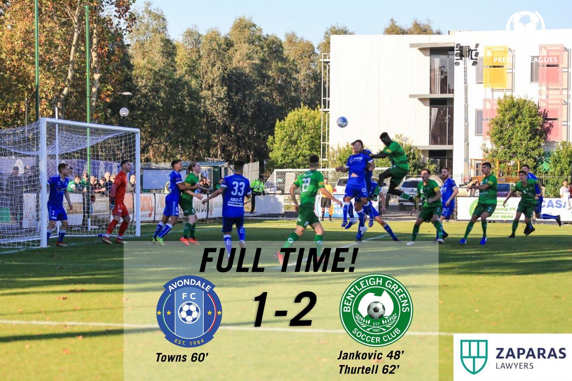 Match Report – Bentleigh Greens vs Avondale