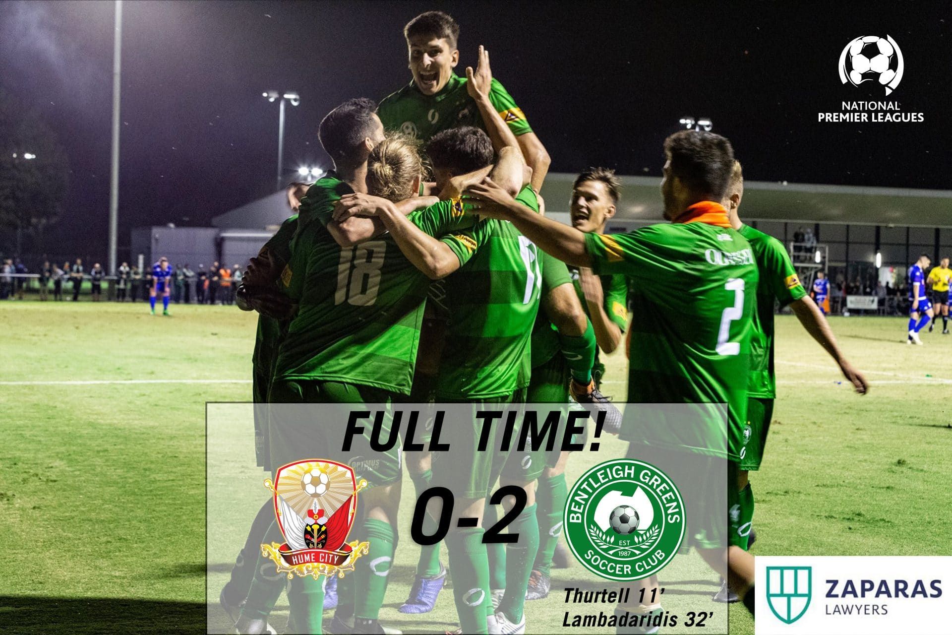 Match Report – Hume City vs Bentleigh Greens