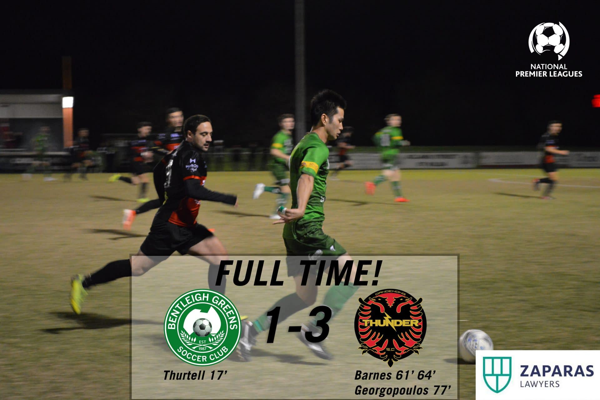 Match Report – Bentleigh Greens vs Dandenong Thunder