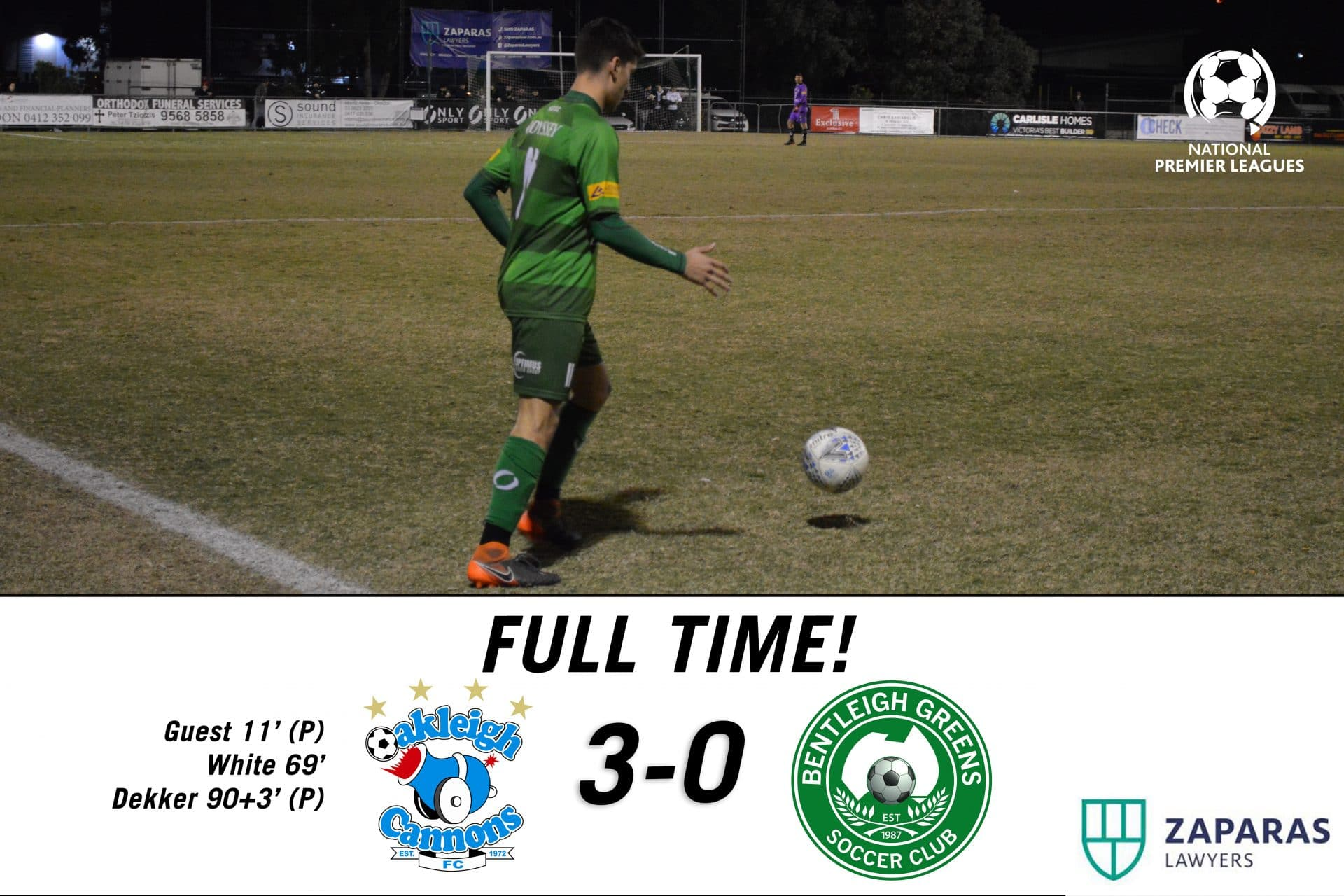 Match Report – Oakleigh Cannons vs Bentleigh Greens
