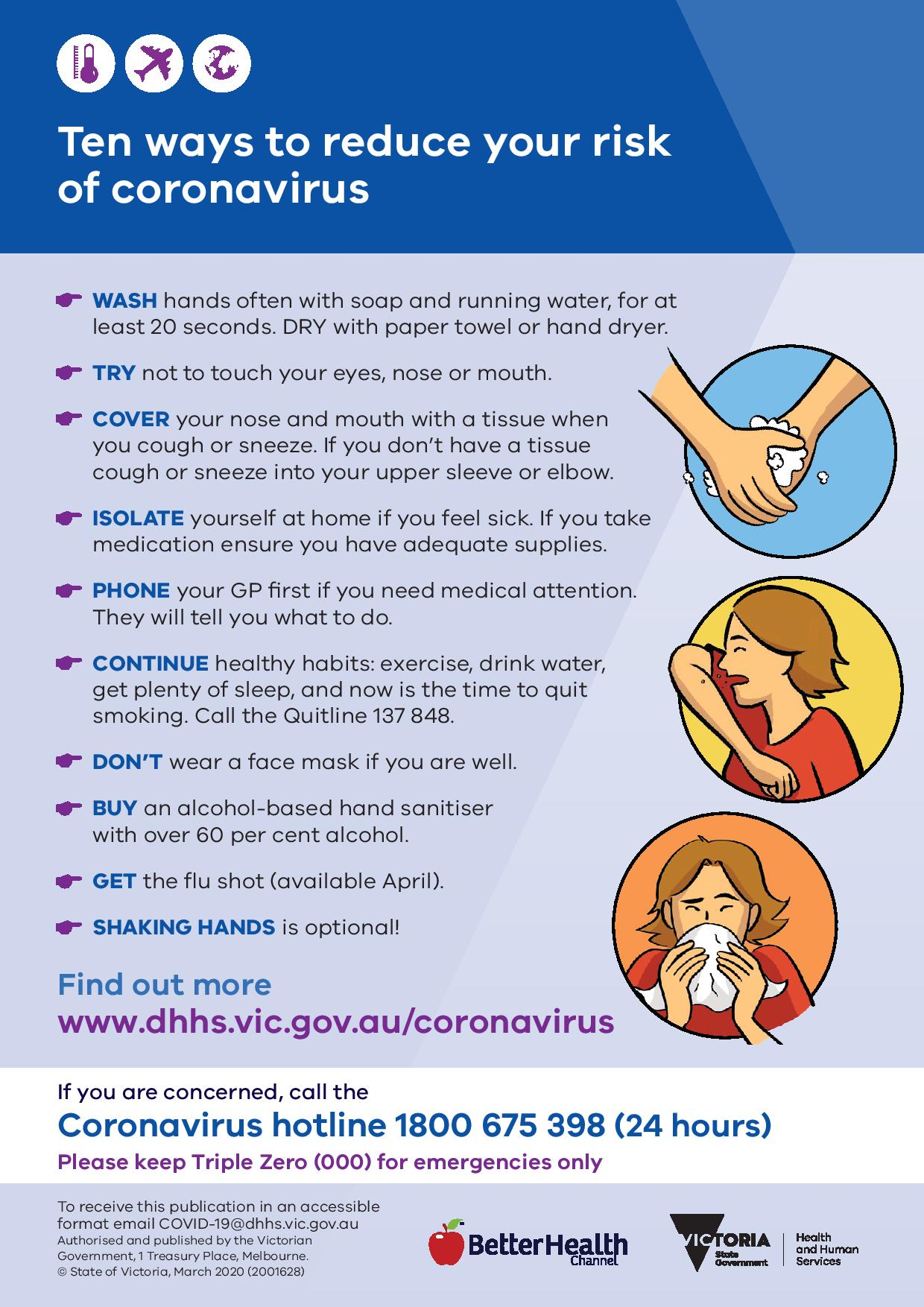 Ten Ways To Reduce Your Risk Of Coronavirus Page 001