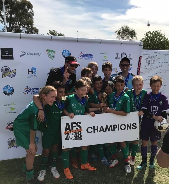 WINNING AFS GRAND FINALIST U11 Bentleigh Greens Kangas team